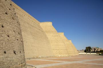 Wall of Arg fort,  Bukhara, Uzbekistan