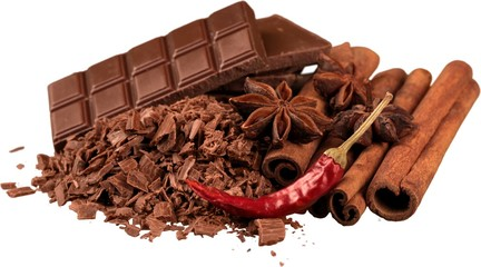 Chocolate Products with Cinnamon, Anise and Chilli Pepper -
