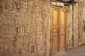 Details of old wall and door, Old Town Tashkent, Uzbekistan