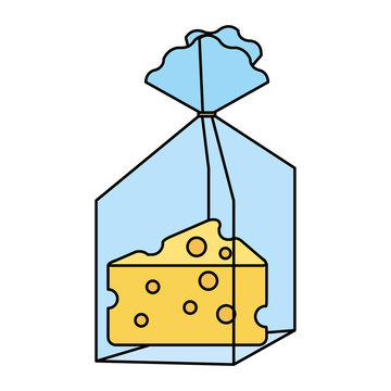 cheese piece in plastic bag