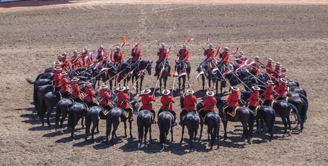 Canadian Mounties Circling