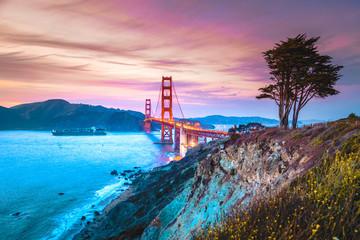 Canvas Prints San Francisco Golden Gate Bridge at twilight, San Francisco, California, USA