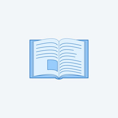 open book 2 colored line icon. Simple dark and light blue element illustration. open book concept outline symbol design from education set