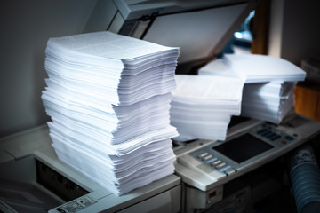 Pile of printed papers