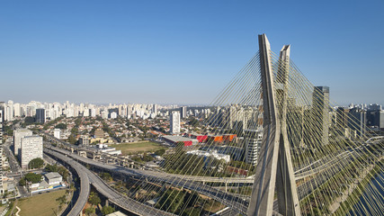 Stayed bridge at Sao Paulo, Brazil.