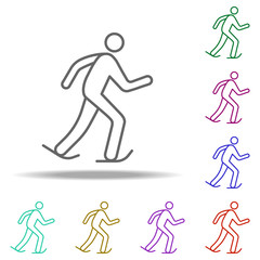 skater outline icon. Elements of Sport in multi color style icons. Simple icon for websites, web design, mobile app, info graphics