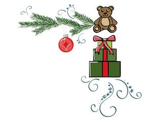 Christmas Presents Border - Upper Right