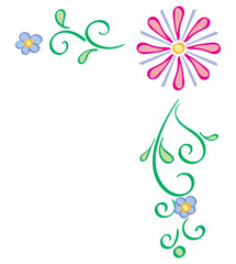Abstract Floral Border - Upper Right