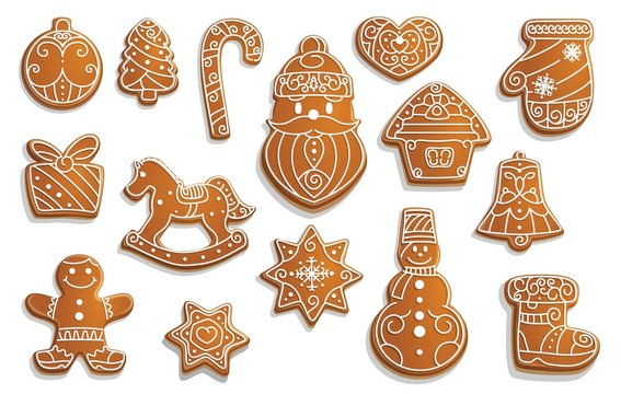 Gingerbread cookies, Christmas holiday food