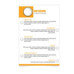 Cv resume designt template vector