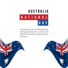 Australia National Day Vector Template Design Illustration