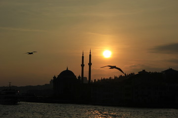 Ortakoy Mosque, The Great Mecidiye Mosque in İstanbul, Turkey