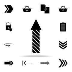 striped arrow icon. web icons universal set for web and mobile