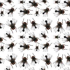 Seamless pattern of flys