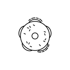 Bagels  icon. Element of Jewish icon for mobile concept and web apps. Thin line Bagels  icon can be used for web and mobile