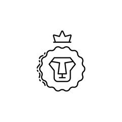 Lion of Judah icon. Element of Jewish icon for mobile concept and web apps. Thin line Lion of Judah icon can be used for web and mobile