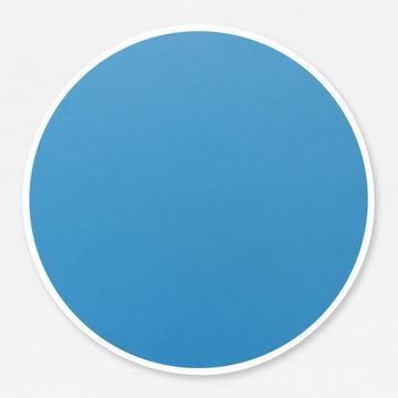 Round empty blue circle vector illustration