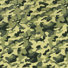 Military camouflage seamless pattern, texture. Abstract army and hunting masking ornament