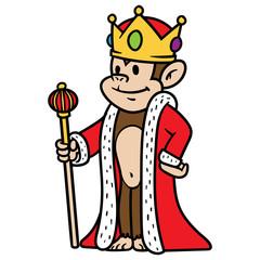Cartoon King Monkey