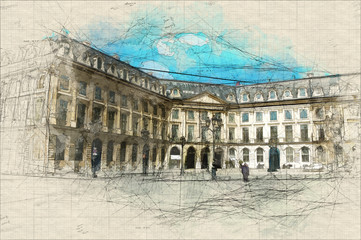 Place Vendome sketch