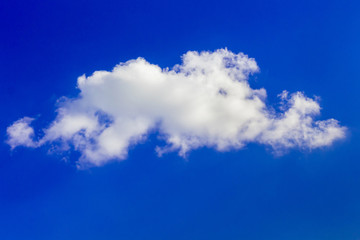 White cloud on a blue sky on a clear sunny day_