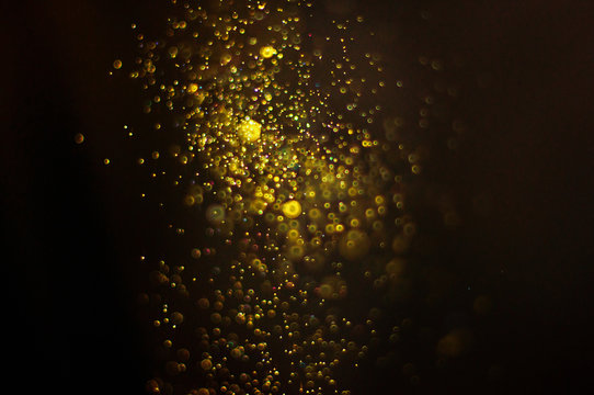 Abstract background with defocused particles