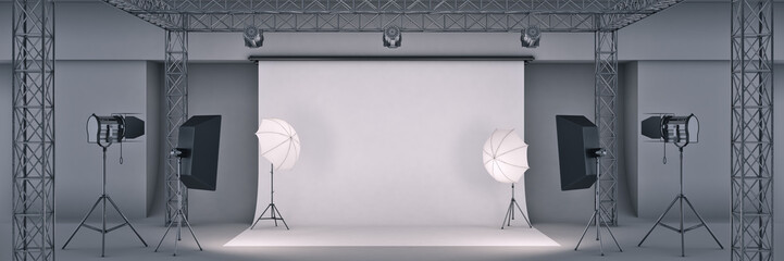 photo studio. 3d rendering