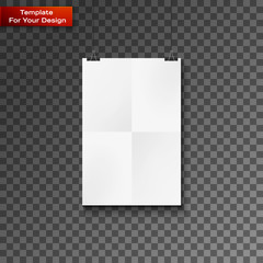 Blank paper frame on wall