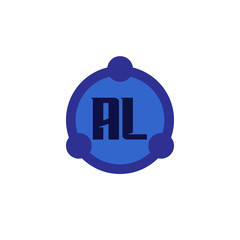 Initial Letter Logo AL Template Design