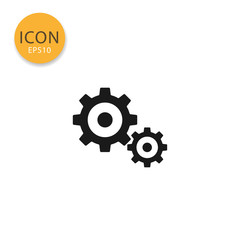 Gears icon isolated flat style.