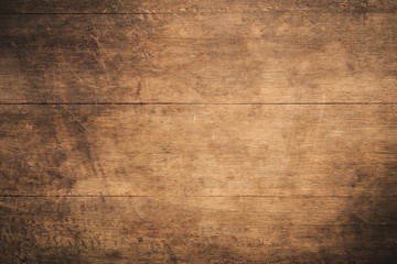 Poster Wood Old grunge dark textured wooden background , The surface of the old brown wood texture , top view teak wood paneling