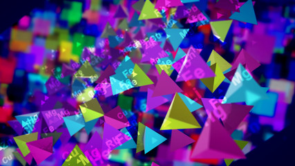 Cheery Pyramids With Chemical Marks