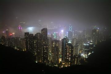 香港 ビクトリアピーク 夜景