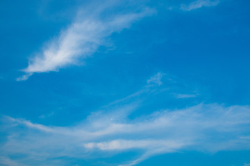 blue sky background with white cloudy .