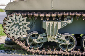 caterpillar on a WO2 tank