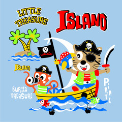 pirate cartoon treasure island