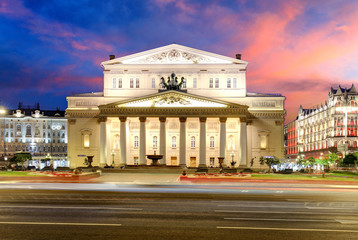 Moscow - Bolshoi theater at sunset