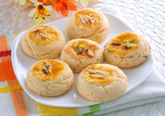 Nan Khatai, Crunchy & delicious shortbread cookies.