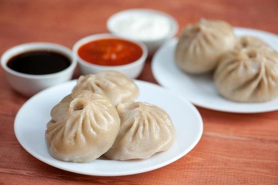 Buuza poza is a Buryat national dish, paste packet.