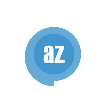 Initial Letter Logo AZ Template Design
