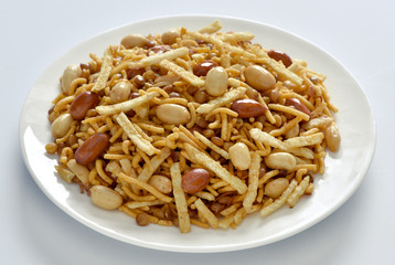 Special Mix Nimco, Mix Nimco, A specific blend of spicy potato stick, peanuts, sev, fried mutter, and chana.