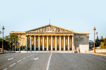 Acrylic Prints Historical buildings National Assembly of France building on Concordia bridge in Paris
