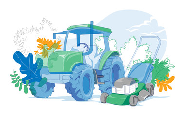 Tractor for Lawnmower