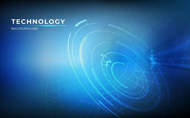 Abstract digital technology communication concept background with modern style. vector illustration.