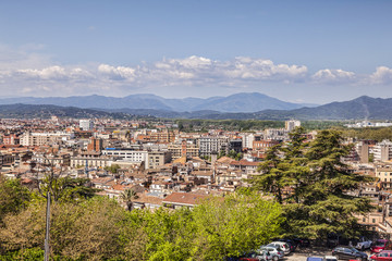 A view over the modern city of Girona, Catalonia, Spain.