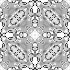 Black and white seamless pattern. Artistic delicate soap bubbles. Lace hand drawn textile ornament.