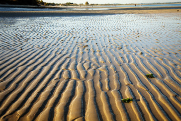 Undulations in sand on Studland beach at low tide, Dorset