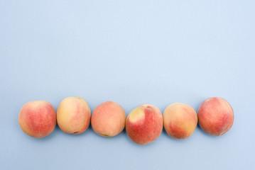 Whole ripe beautiful peaches