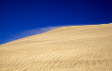 sand pattern on dunes