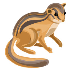 Chipmunk icon. Cartoon of chipmunk vector icon for web design isolated on white background